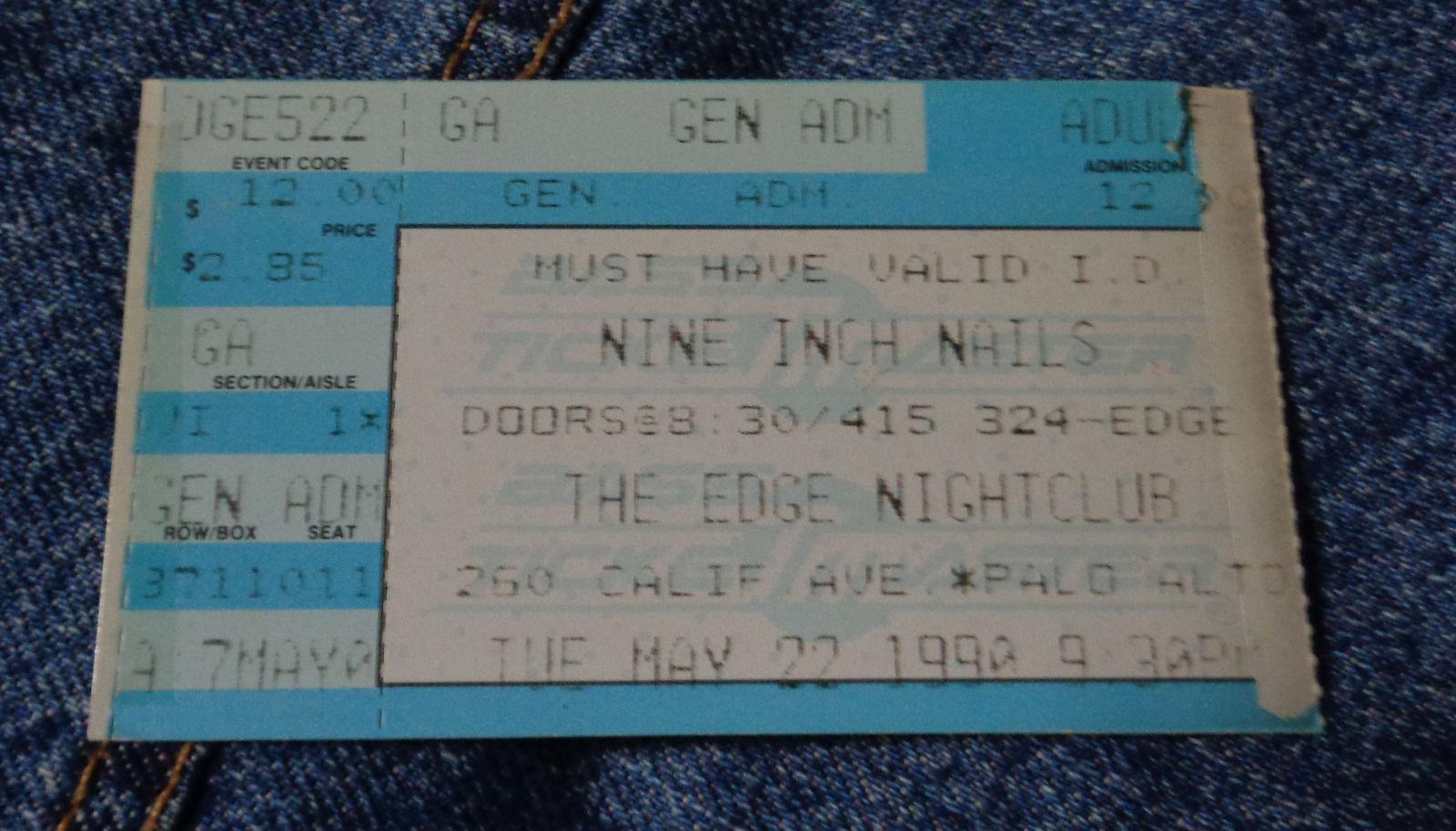 Nine Inch Nails Live Archive: NIN, May 22, 1990, Palo Alto, CA, The Edge