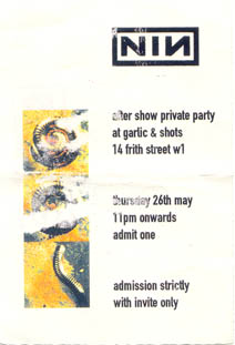 1994/05/26 Afterparty Pass