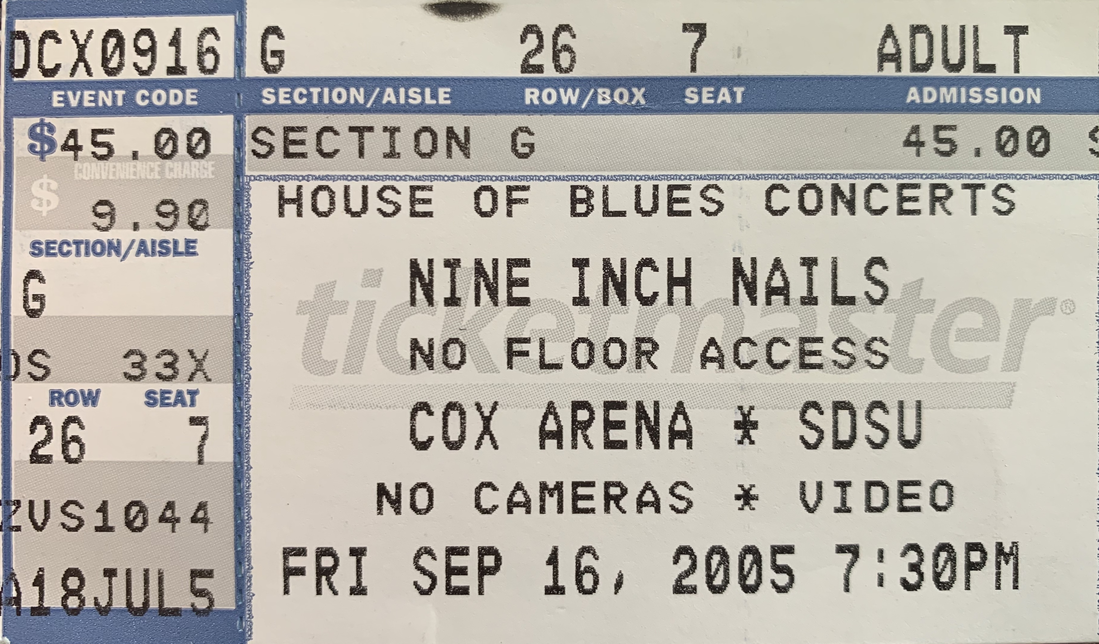 San Diego 2005 Ticket