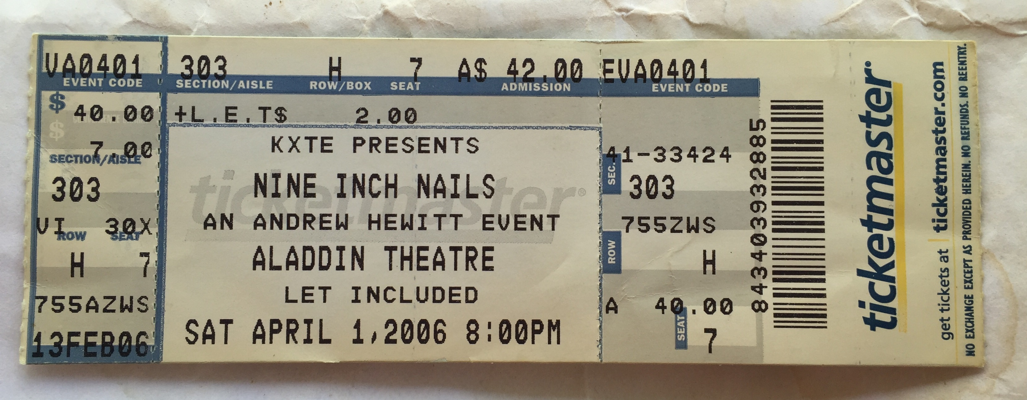 Nine Inch Nails Live Archive: NIN, April 01, 2006, Las Vegas, NV ...
