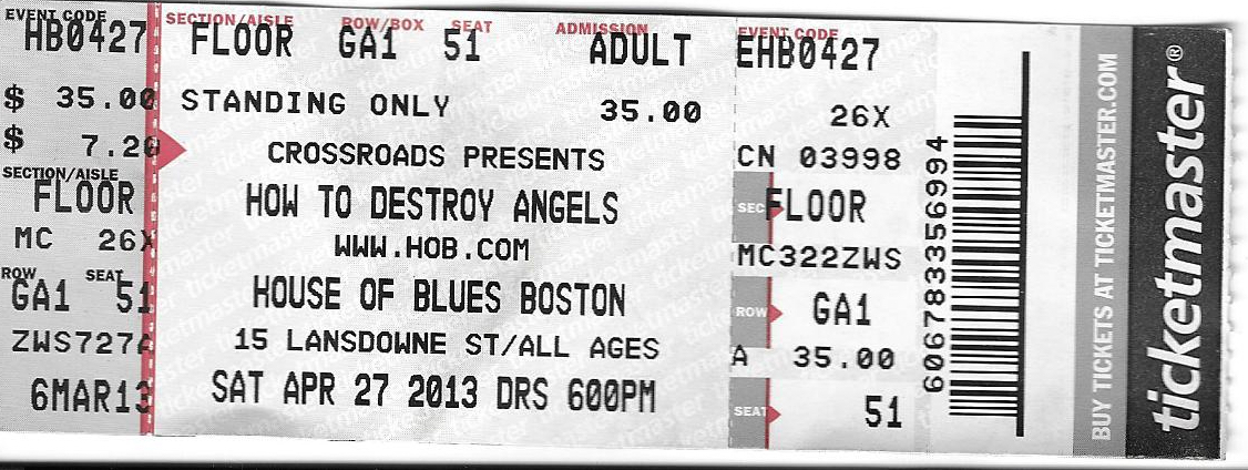 HTDA Boston 2013 ticket