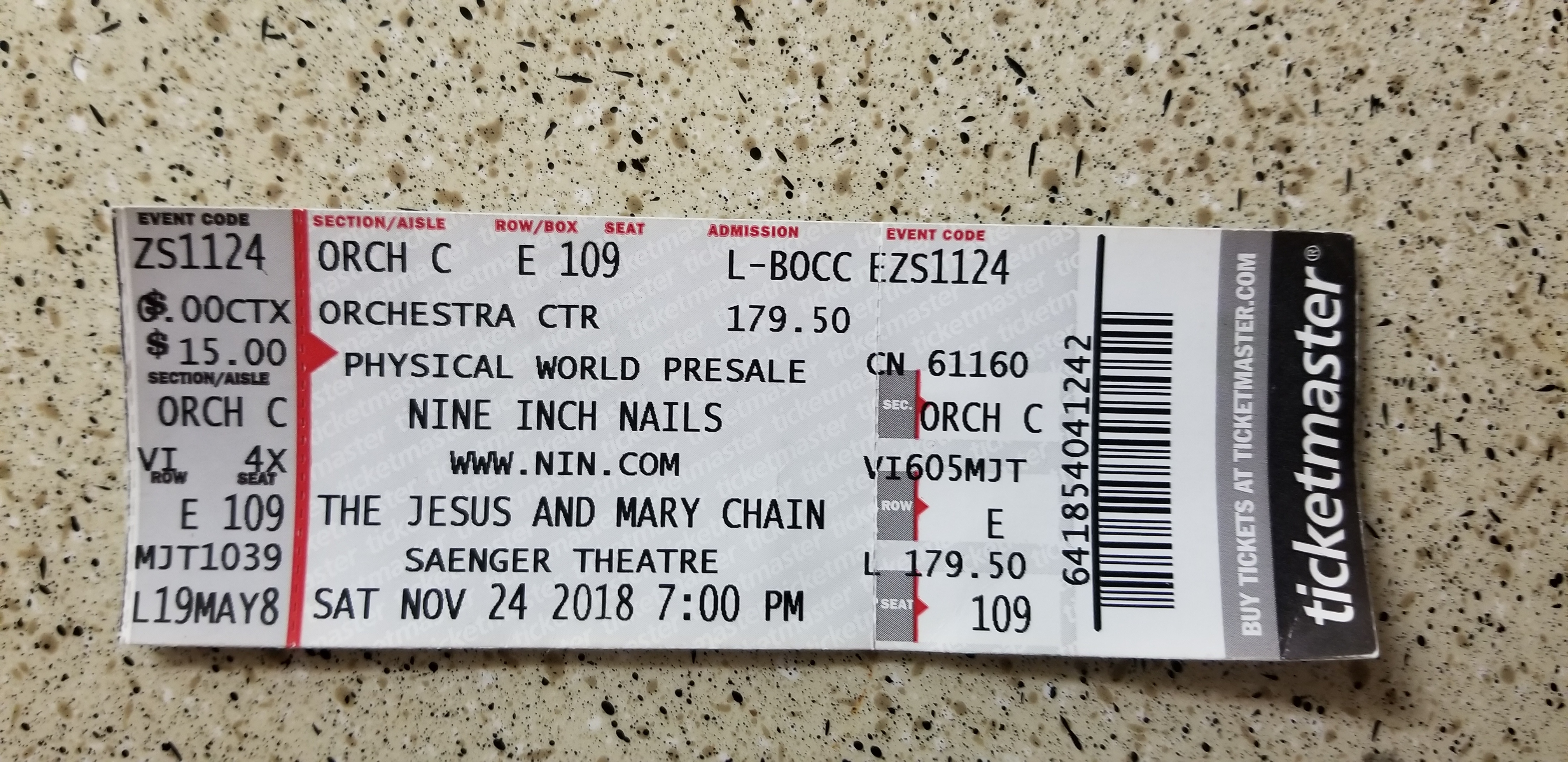 11/24/2018 NOLA Night 2 Ticket